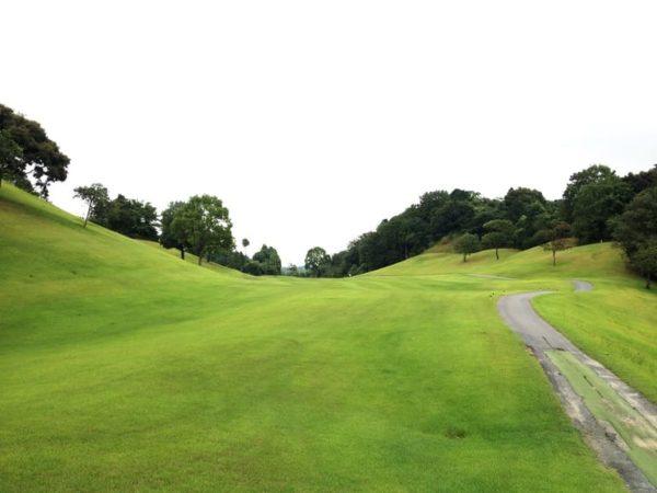霞ゴルフクラブ INコース 15番ホール ロングホール