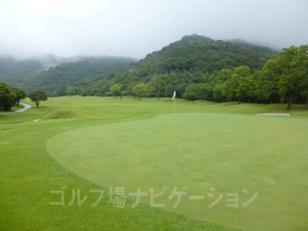 Kochi黒潮カントリークラブ 暖流コース 9番ホール ロングホール グリーン