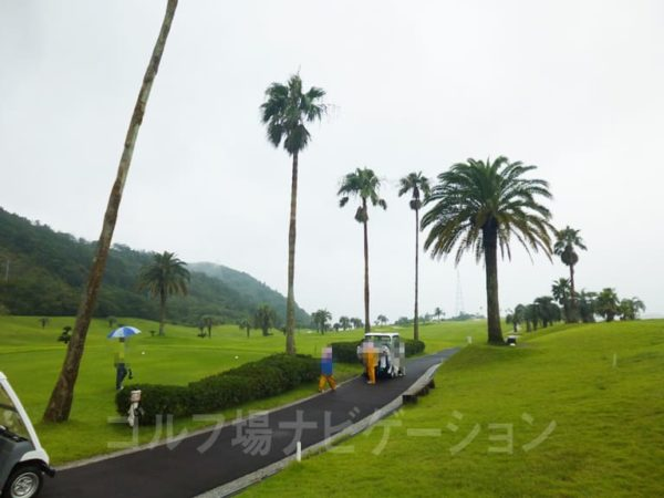 Kochi黒潮カントリークラブ 太平洋コース スタートホール前