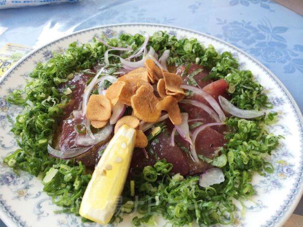 Kochi黒潮カントリークラブ レストラン ランチ カツオのマリネ