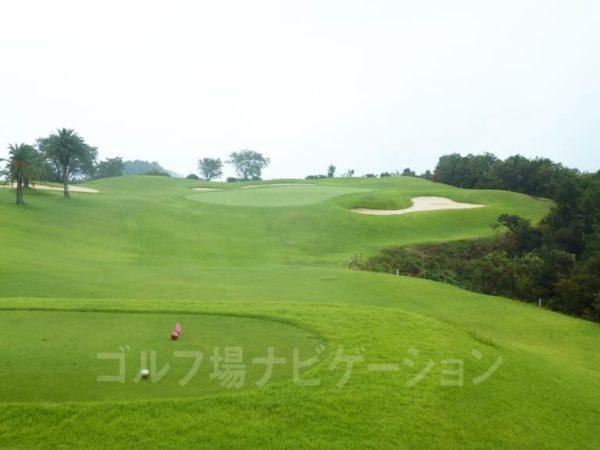 Kochi黒潮カントリークラブ 太平洋コース 2番ホール ショートホール レディースティ