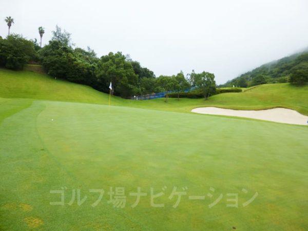 Kochi黒潮カントリークラブ 太平洋コース 8番ホール グリーン
