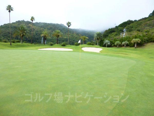 Kochi黒潮カントリークラブ 太平洋コース 9番ホール グリーン