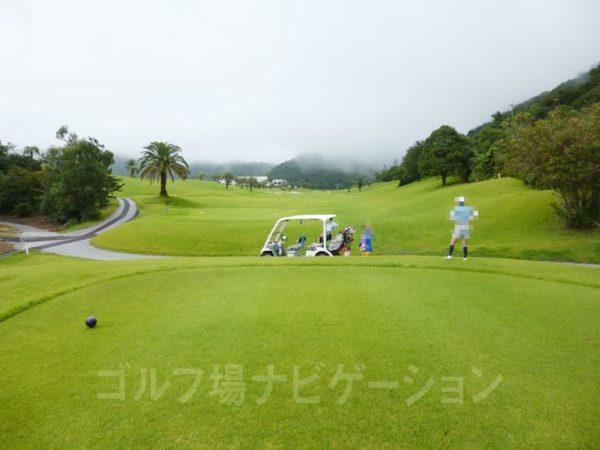 Kochi黒潮カントリークラブ 太平洋コース 9番ホール バックティ