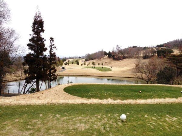 ロータリーゴルフ倶楽部 ニューコース 11番ホール 池越え ショートホール
