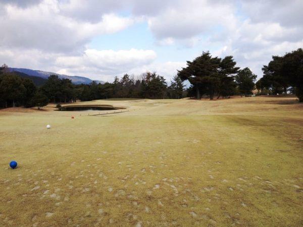 瀬田ゴルフコース 西コース 7番ホール 池越え ショート