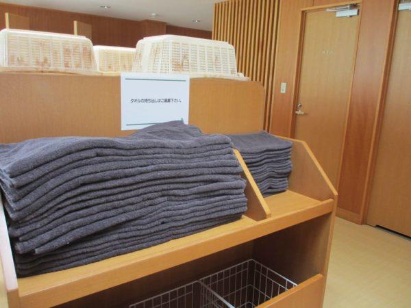 亀岡ゴルフクラブ 女性 脱衣所 バスタオル