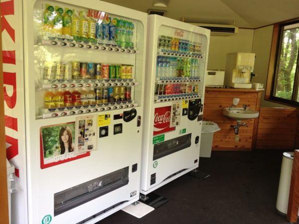 那須国際カントリークラブ OUTコース 茶店 自動販売機